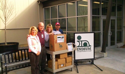 Indium Corporation Collects Donations for Hurricane Sandy
