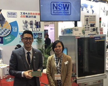 From left: NSW Automation Sdn Bhd Marketing Director KC Tai and Indium Corporation Regional Product Manager for Semiconductor, Sze Pei Lim.